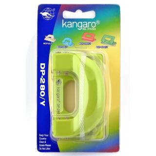 Dziurkacz KANGARO DP-280Y, dziurkuje do 11 kartek, blister, zielony, Dziurkacze, Drobne akcesoria biurowe