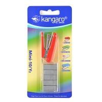 Zszywacz KANGARO Mini-10/Y2+zszywki, zszywa do 10 kartek, blister, czerwony, Zszywacze, Drobne akcesoria biurowe