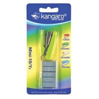 Zszywacz KANGARO Mini-10/Y2+zszywki, zszywa do 10 kartek, blister, zielony, Zszywacze, Drobne akcesoria biurowe