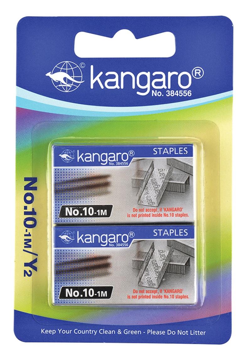 Zszywki KANGARO, No. 10-1M, 2x1000 szt., blister, Zszywki, Drobne akcesoria biurowe