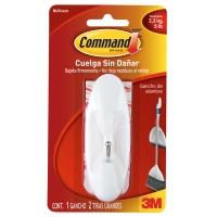 Hak wielokrotnego użytku COMMAND™ (17069 PL), z metalowym uchwytem, duży, biały, Haczyki, Prezentacja