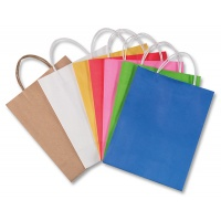 Gift bag, PAPER FOIL, 18x8x21cm, weight 110 g/m2, assorted colours