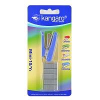 Zszywacz KANGARO Mini-10/Y2+zszywki, zszywa do 10 kartek, blister, błekitny, Zszywacze, Drobne akcesoria biurowe