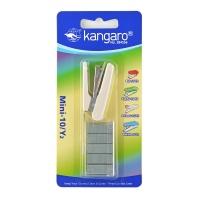 Zszywacz KANGARO Mini-10/Y2+zszywki, zszywa do 10 kartek, blister, beżowy, Zszywacze, Drobne akcesoria biurowe