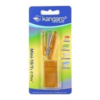 Zszywacz KANGARO Mini-10/Y2 C-THRU+zszywki, zszywa do 10 kartek, blister, żółty, Zszywacze, Drobne akcesoria biurowe