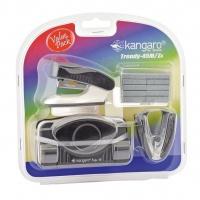 Zestaw KANGARO Trendy-45M/Z4, 4w1, blister, czarny, Zestawy, Drobne akcesoria biurowe