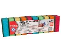 Gąbka do zmywania OFFICE PRODUCTS Standard, 10szt., mix kolorów, Akcesoria do sprzątania, Artykuły higieniczne i dozowniki