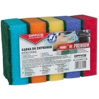 Gąbka do zmywania OFFICE PRODUCTS Maxi Premium, 5szt., mix kolorów, Akcesoria do sprzątania, Artykuły higieniczne i dozowniki