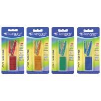 Zszywacz KANGARO Mini-10/Y2 C-THRU+zszywki, zszywa do 10 kartek, blister, mix kolorów, Zszywacze, Drobne akcesoria biurowe