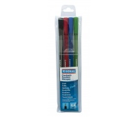 Fine felt-tip pen, DONAU, D-Fine, 0.4mm, 4 pcs, assorted colours