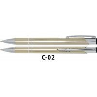 Długopis automatyczny COSMO z grawerem szampanski, Długopisy, Artykuły do pisania i korygowania