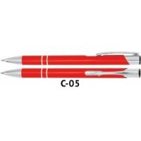 Długopis automatyczny COSMO z grawerem pomarańczowy, Długopisy, Artykuły do pisania i korygowania