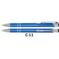 Długopis automatyczny COSMO z grawerem błękitny, Długopisy, Artykuły do pisania i korygowania
