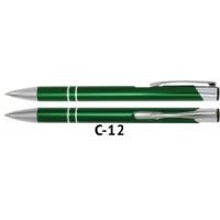 Długopis automatyczny COSMO z grawerem zielony, Długopisy, Artykuły do pisania i korygowania