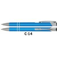 Długopis automatyczny COSMO z grawerem turkusowy, Długopisy, Artykuły do pisania i korygowania