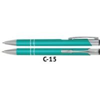 Długopis automatyczny COSMO z grawerem aquamarine, Długopisy, Artykuły do pisania i korygowania