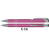 Długopis automatyczny COSMO z grawerem różowy, Długopisy, Artykuły do pisania i korygowania