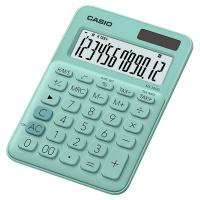 Kalkulator biurowy CASIO MS-20UC-GN-S, 12-cyfrowy, 105x149,5mm, zielony, Kalkulatory, Urządzenia i maszyny biurowe