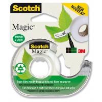 Taśma biurowa ekologiczna SCOTCH® Magic™ (9-1920D), matowa, z dyspenserem, 19mm, 20m, Taśmy biurowe, Drobne akcesoria biurowe