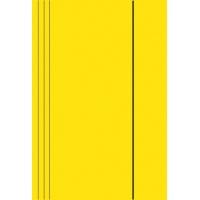 Teczka z gumką A4 KONFEX , 300GSM, żółta, Teczki płaskie, Archiwizacja dokumentów