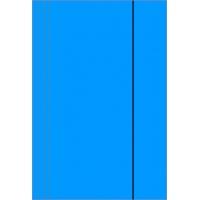 Teczka z gumką A4 KONFEX , 300GSM, niebieska, Teczki płaskie, Archiwizacja dokumentów