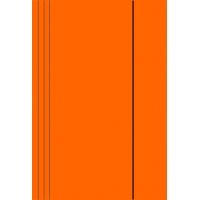 Teczka z gumką A4 KONFEX , 300GSM, pomarańczowa, Teczki płaskie, Archiwizacja dokumentów