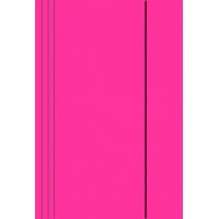 Teczka z gumką A4 KONFEX , 300GSM, różowa, Teczki płaskie, Archiwizacja dokumentów