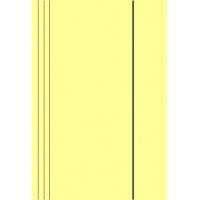 Teczka z gumką A4 KONFEX , 300GSM, kremowa, Teczki płaskie, Archiwizacja dokumentów