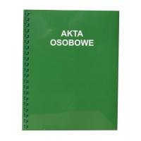 Teczka akt osobowych A4, KONFEX, zielona, 350GSM, bindowana, Akta osobowe, Archiwizacja dokumentów