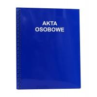 Teczka akt osobowych A4, KONFEX, niebieska, 350GSM, bindowana, Akta osobowe, Archiwizacja dokumentów