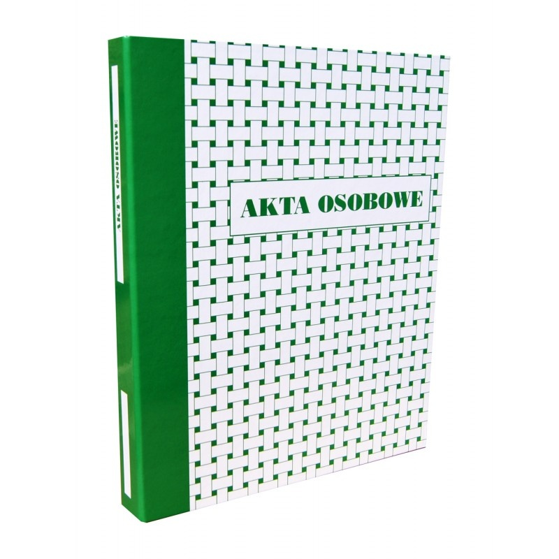 Teczka, segregator akt osobowych A4, KONFEX, zielona, ringowa, Akta osobowe, Archiwizacja dokumentów