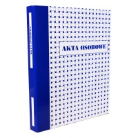 Teczka, segregator akt osobowych A4, KONFEX, niebieska, ringowa, Akta osobowe, Archiwizacja dokumentów