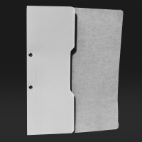 Skoroszyt papierowy oczkowy połówkowy A4, KONFEX, biały, Skoroszyty pozostałe, Archiwizacja dokumentów
