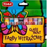 Farby witrażowe, TOMA, TO-750, Glassdeco, 8 szt., mix kolorów, Plastyka, Artykuły szkolne