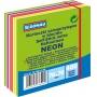 Kostka samoprzylepna DONAU, 76x76mm, 1x400 kart., neon-pastel, mix zielony, Bloczki samoprzylepne, Papier i etykiety