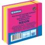 Kostka samoprzylepna DONAU, 76x76mm, 1x400 kart., neon-pastel, mix różowy, Bloczki samoprzylepne, Papier i etykiety