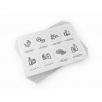 Etykiety do segregacji odpadów - piktogramy, Etykiety samoprzylepne, Papier i etykiety