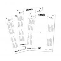 Wkłady do identyfikatorów Badgemaker 52x100 mm, Identyfikatory, Prezentacja