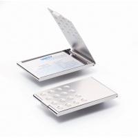 BUSINESS CARD BOX chrome Chrom, etui na wizytówki (20 szt. ), Wizytowniki, Drobne akcesoria biurowe