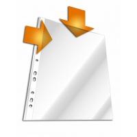 Koszulka na dokumenty PP, A4, otwarta góra i bok, Koszulki i obwoluty, Archiwizacja dokumentów