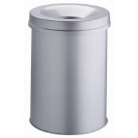 Kosz na śmieci SAFE, okrągły 30, Kosze metal, Wyposażenie biura