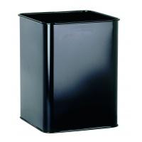 Kosz na śmieci, metalowy, kwadratowy 18, 5 l, Kosze metal, Wyposażenie biura