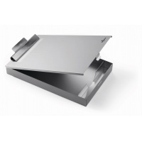 CLIPBOARD A4 BOX, wykonany z aluminium, z pojemnikiem, Clipboardy, Archiwizacja dokumentów