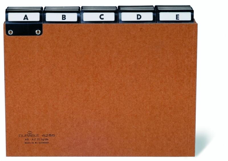 Przekładki A5 5/5 (A-Z) z preszpanu do kartoteki, z indeksami wsuwanymi 40mm, Miniarchiwa i kartoteki, Archiwizacja dokumentów
