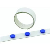 Taśma na magnesy biała, szer. 35 mm, dł. 5m, Bloki, magnesy, gąbki, spraye do tablic, Prezentacja