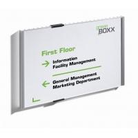 INFO SIGN tabliczka przydrzwiowa A4 pozioma, 210x297 mm (W x S), Identyfikatory, Prezentacja