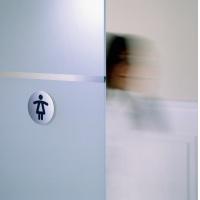"""Tabliczka Ø83 symbol """"WC DAMSKI"""", Tablice, Prezentacja"""