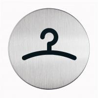 """Tabliczka Ø83 symbol """"GARDEROBA"""", Tablice, Prezentacja"""