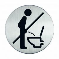 Tabliczka Ø83 symbol WC: proszę usiąść, Tablice, Prezentacja