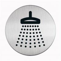Tabliczka Ø83 symbol: prysznic, Tablice, Prezentacja